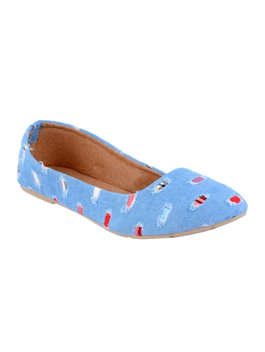 blue denim slip on ballerina - 14482654 - Standard Image - 1
