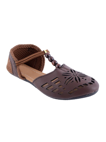 brown closed back  sandal - 14482657 - Standard Image - 1