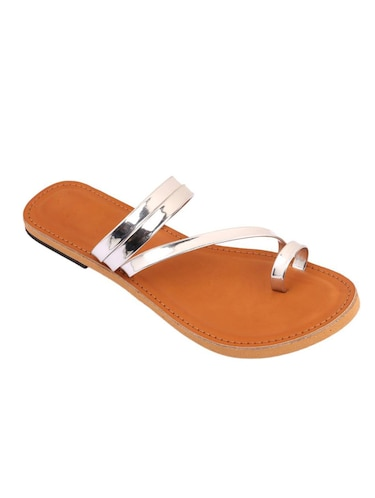 silver one toe sandal - 14482676 - Standard Image - 1