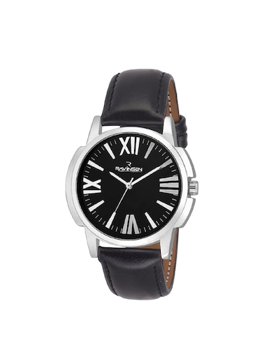 Ravinson 3511SL New Black Dial Leather Strap Stylish Elegant Analog Watch  - For Men - 14483239 - Standard Image - 1