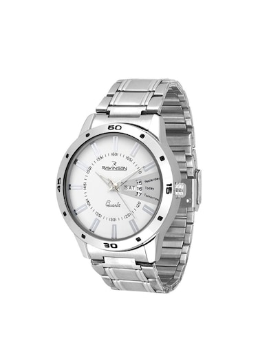 Ravinson R1702SM02D New Day Date White Dial Stainless Steel Latest Analog Watch  - For Men - 14483256 - Standard Image - 1