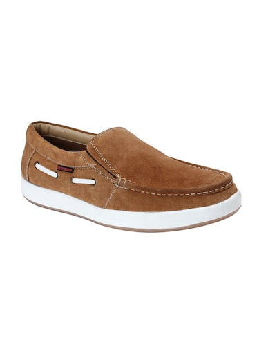 brown Suede casual slipon - 14483896 - Standard Image - 1