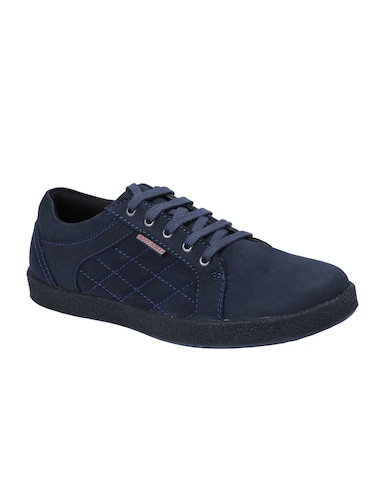 blue Leather lace up sneaker - 14483900 - Standard Image - 1