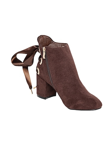 brown suede ankle boot - 14485744 - Standard Image - 1