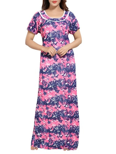 multi colored satin gown - 14486141 - Standard Image - 1