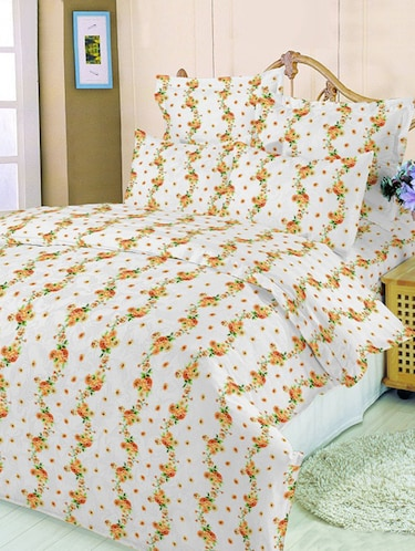 Cotton Printed Double Bedsheet with 2 Pillow Covers - 14488727 - Standard Image - 1
