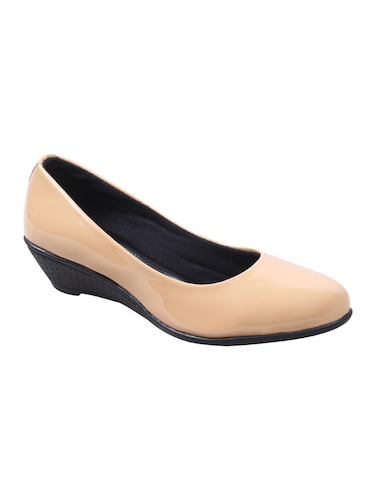 beige patent leather slip on formal shoes - 14489337 - Standard Image - 1