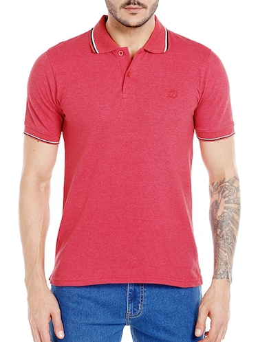red cotton  t-shirt - 14491496 - Standard Image - 1