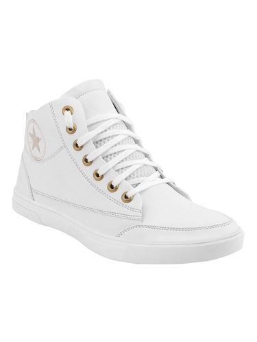 white leatherette sneaker - 14493669 - Standard Image - 1