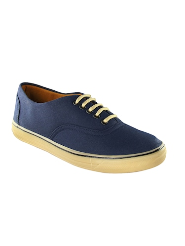 navy Canvas lace up sneaker - 14494478 - Standard Image - 1