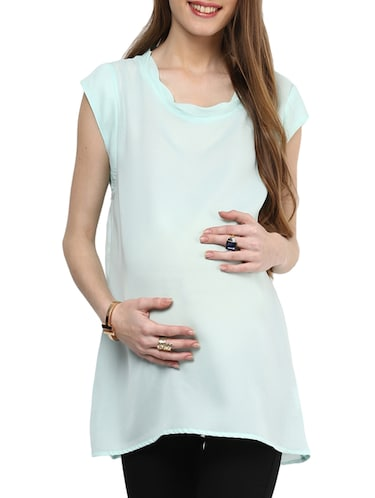 green top maternity wear - 14495865 - Standard Image - 1