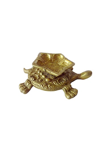 Brass Small Deep With Tortoise Statue Handicrafts Product - 14496204 - Standard Image - 1
