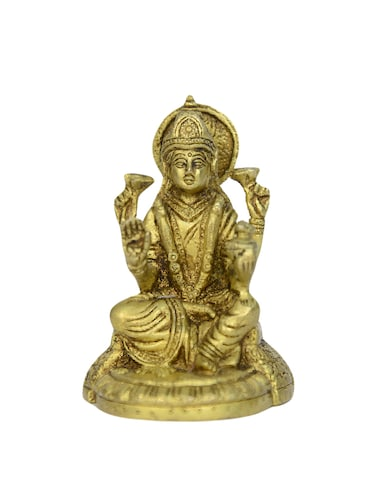 Decorative Brass Statue of Sitting Laxmi Devi Handicrafts Product - 14496457 - Standard Image - 1