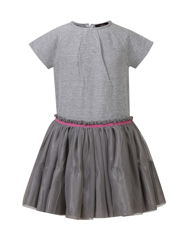grey cotton frock - 14498048 - Standard Image - 1