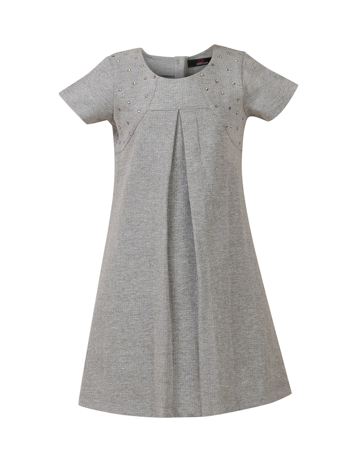 d026ab54814d Buy Grey Cotton Frock by Miazzi - Online shopping for Frocks in ...