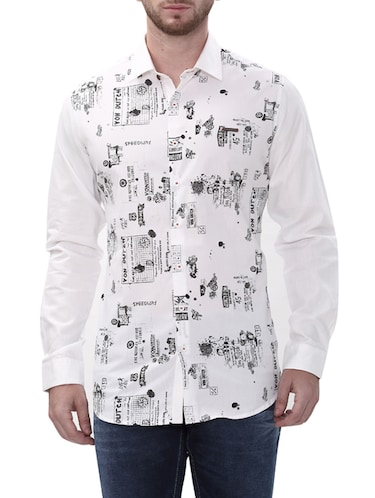 white cotton casual shirt - 14498570 - Standard Image - 1
