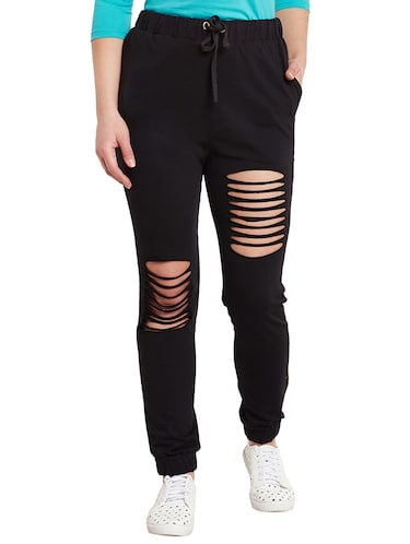 black cotton joggers - 14499588 - Standard Image - 1