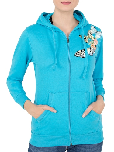 blue hooded sweatshirt - 14501289 - Standard Image - 1