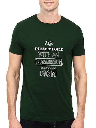 green cotton chest print tshirt - 14501607 - Standard Image - 1