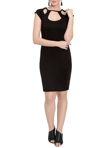 solid black sheath dress - 14501662 - Standard Image - 1