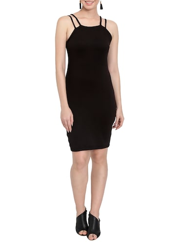 solid black bodycon dress - 14501664 - Standard Image - 1