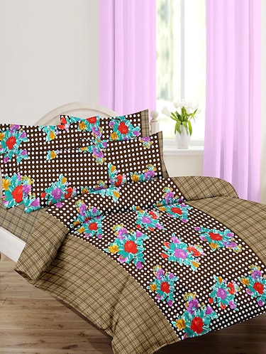 Cotton Printed Double Bedsheet with 2 Pillow Covers - 14502433 - Standard Image - 1