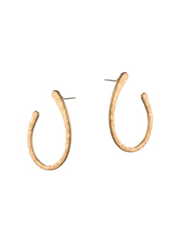 gold metal other earring - 14502554 - Standard Image - 1