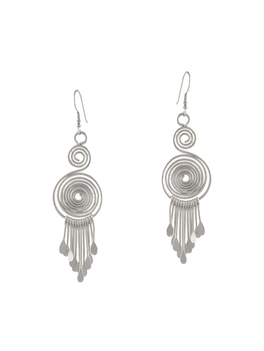 silver metal other earring - 14502766 - Standard Image - 1