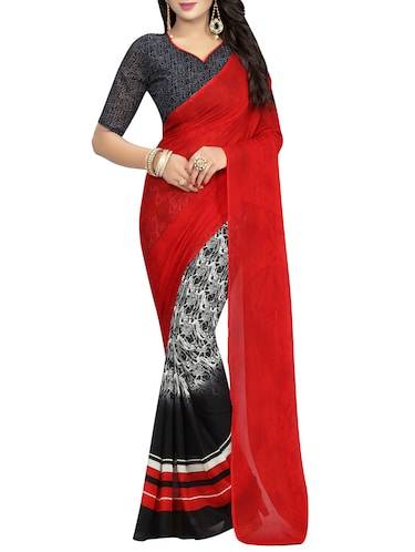 Multicolored printed saree - 14503110 - Standard Image - 1