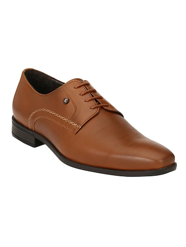 tan Leather formal derby - 14503237 - Standard Image - 1
