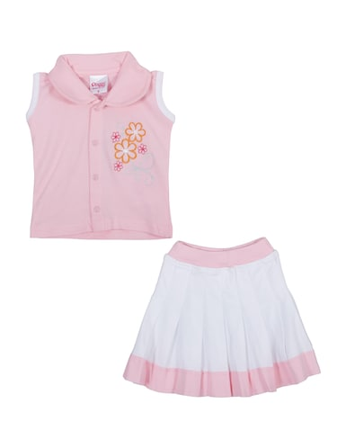 pink cotton shorts set - 14504280 - Standard Image - 1