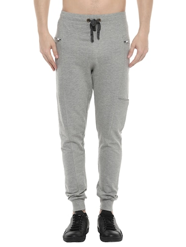 grey cotton joggers - 14504448 - Standard Image - 1