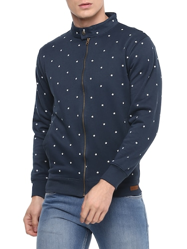 blue cotton all over print sweatshirt - 14504456 - Standard Image - 1