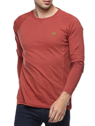 red cotton raglan t-shirt - 14504488 - Standard Image - 1
