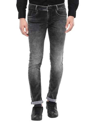 black cotton washed jeans - 14504558 - Standard Image - 1