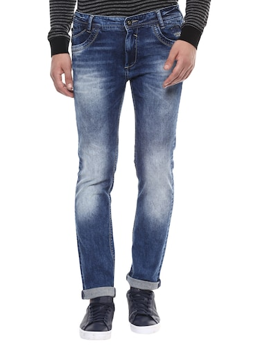 blue cotton washed jeans - 14504560 - Standard Image - 1