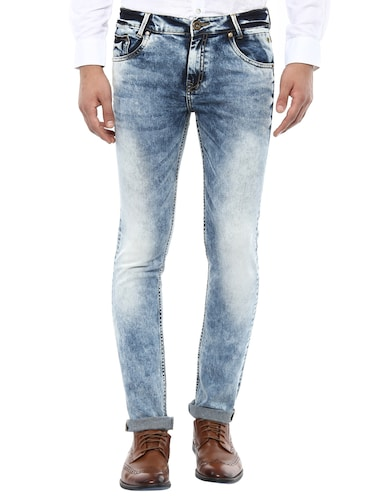 blue cotton washed jeans - 14504624 - Standard Image - 1