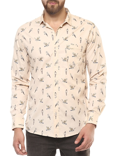 beige cotton casual shirt - 14504768 - Standard Image - 1