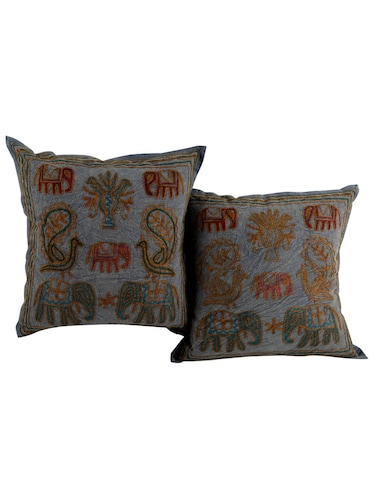 Cotton Embroidered Set of 2 Cushion Covers - 14505766 - Standard Image - 1