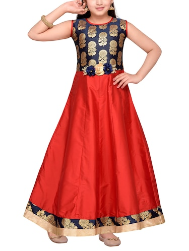 red silk blend party gown - 14505815 - Standard Image - 1
