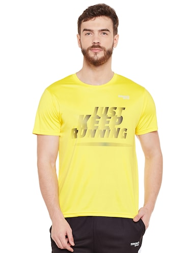 yellow polyester t-shirt - 14505900 - Standard Image - 1