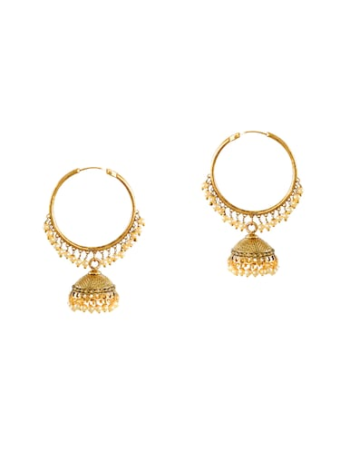 gold zinc balli earrings - 14506132 - Standard Image - 1