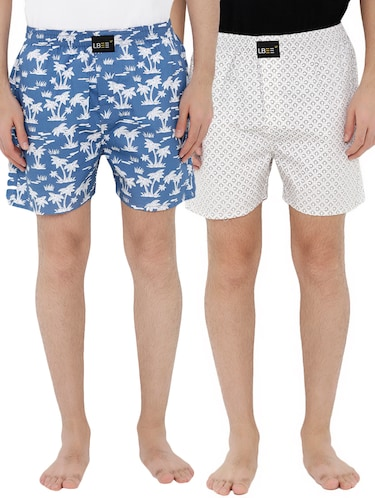 multi colored cotton boxers (Set Of 2) - 14506479 - Standard Image - 1