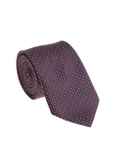purple micro silk fabric tie with cuff link and pocket square - 14506787 - Standard Image - 1