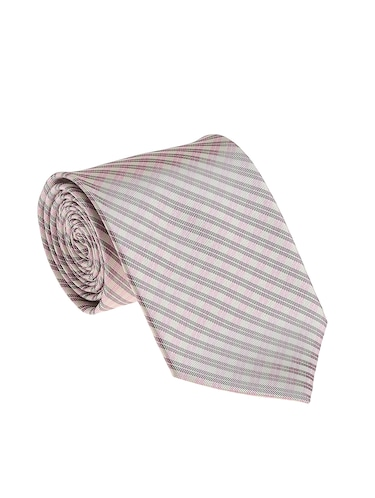 grey micro silk fabric tie with cuff link and pocket square - 14506816 - Standard Image - 1