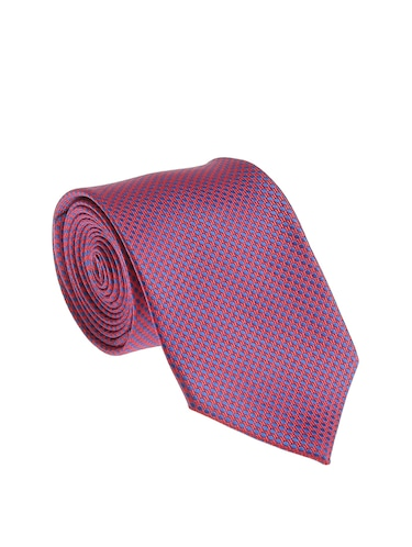 purple  micro silk fabric tie with cuff link and pocket square - 14506878 - Standard Image - 1
