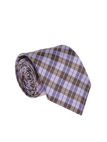 purple  micro silk fabric tie with cuff link and pocket square - 14506917 - Standard Image - 1