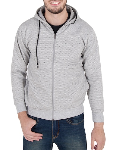 grey cotton sweatshirt - 14510083 - Standard Image - 1