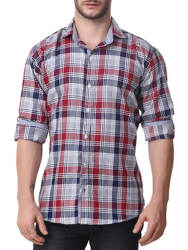 multi cotton casual shirt - 14510371 - Standard Image - 1