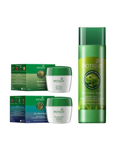 Buy Biotique Henna Hair Color 90gm Green Apple Purifying Shampoo